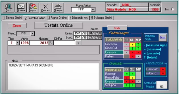 Software produzione mrp grap db informatic for Software di piano planimetrico